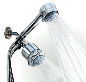 WantBa High Pressure Chrome 5 Setting Massage Spa Shower Head Combo review